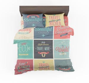 Super Travel Icons Designed Bedding Sets