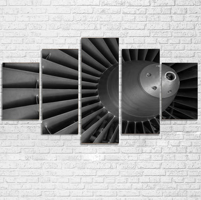 Super View of Jet Engine Printed Multiple Canvas Poster