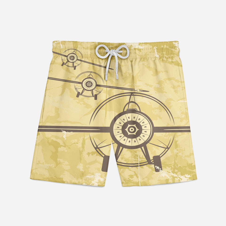 Super Vintage Propeller Designed Swim Trunks