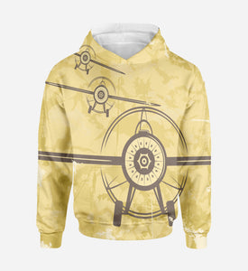 Super Vintage Propeller Printed 3D Hoodies