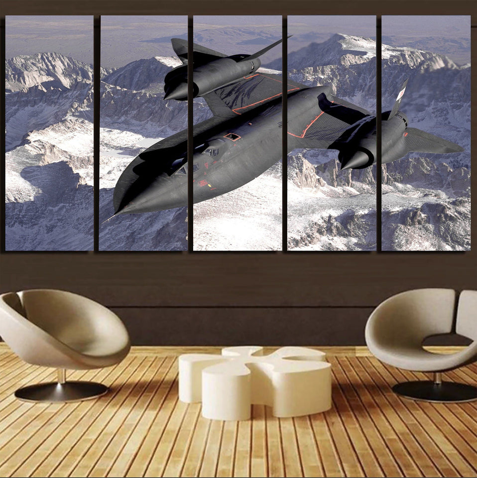 Supersonic Fighter Printed Canvas Prints (5 Pieces) Aviation Shop