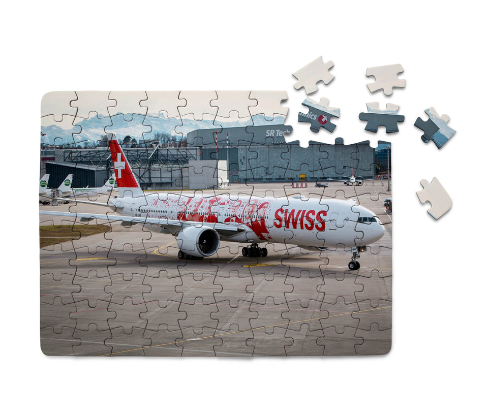 Swiss Airlines Boeing 777 Printed Puzzles Aviation Shop