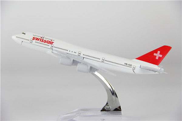 Swissair Boeing 747 Airplane Model (16CM)