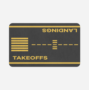 Takeoff & Landings Designed Bath Mats Aviation Shop