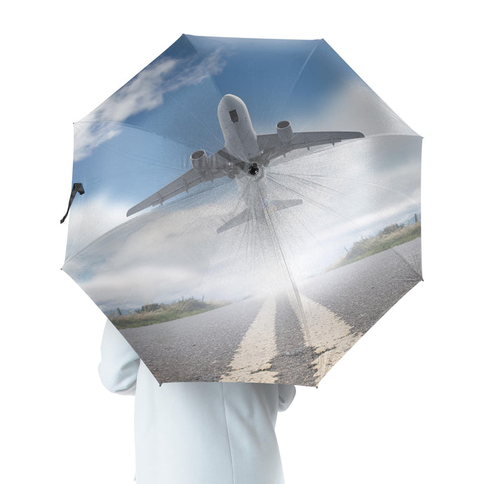 Taking Off Aircraft Designed Umbrella
