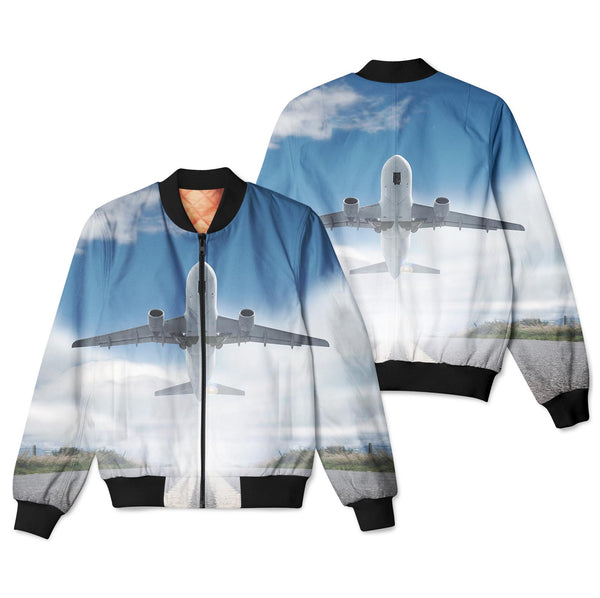 Taking Off Aircraft Designed 3D Pilot Bomber Jackets