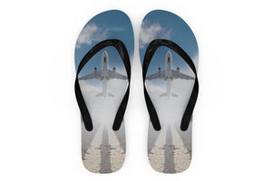 Taking Off Aircraft Designed Slippers (Flip Flops)