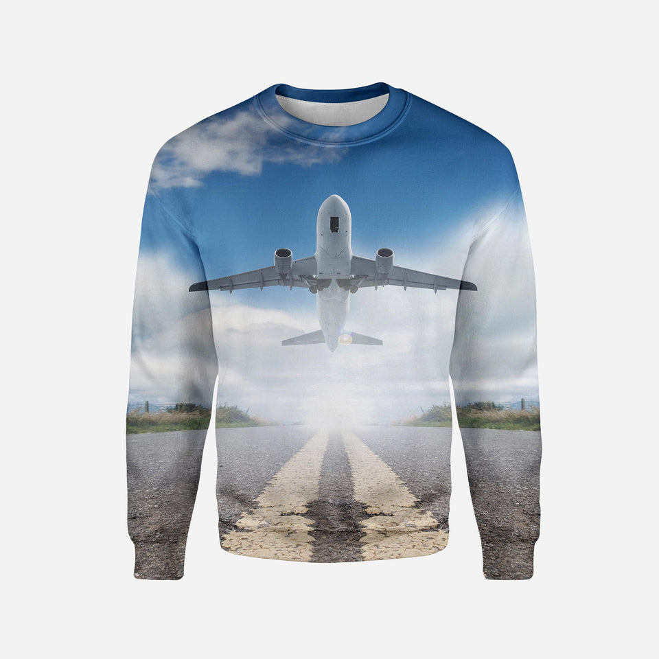 Taking off Aircraft Printed 3D Sweatshirts