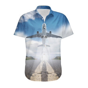 Taking off Aircraft Designed 3D Shirts