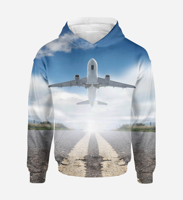 Taking off Aircraft Printed 3D Hoodies