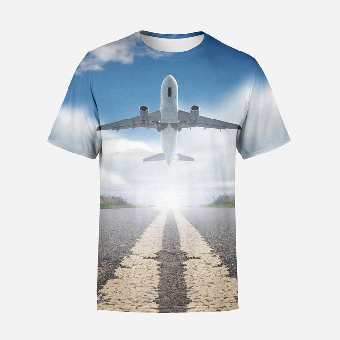 Taking off Aircraft Printed 3D T-Shirts