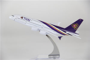 Thai Airways Airbus A380 Airplane Model (16CM)