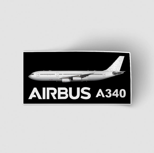 The Airbus A340 Designed Stickers