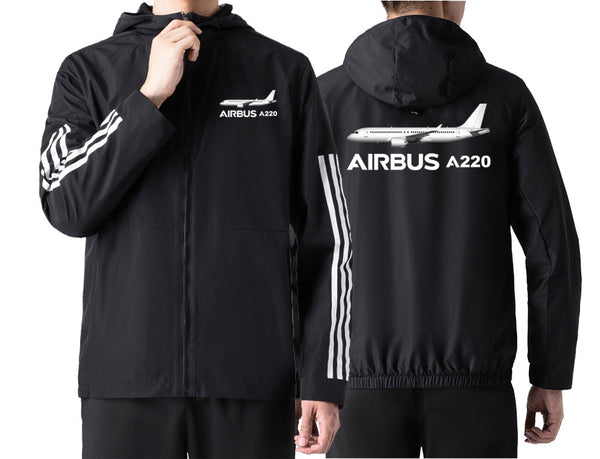 The Airbus A220 Designed Windbreaker Jackets