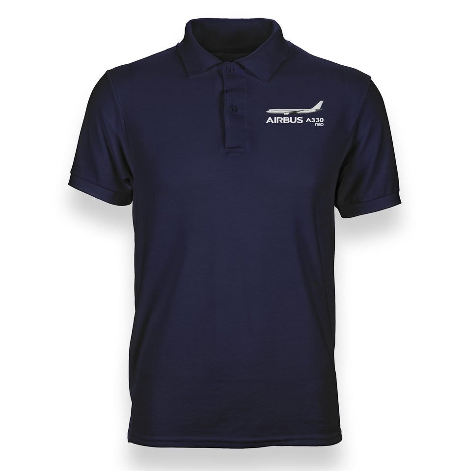 The Airbus A330neo Designed Polo T-Shirts