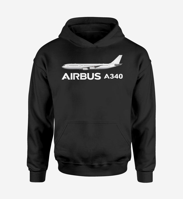 The Airbus A340 Designed Hoodies
