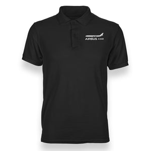 The Airbus A340 Designed Polo T-Shirts
