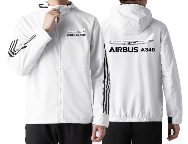 The Airbus A340 Designed Windbreaker Jackets