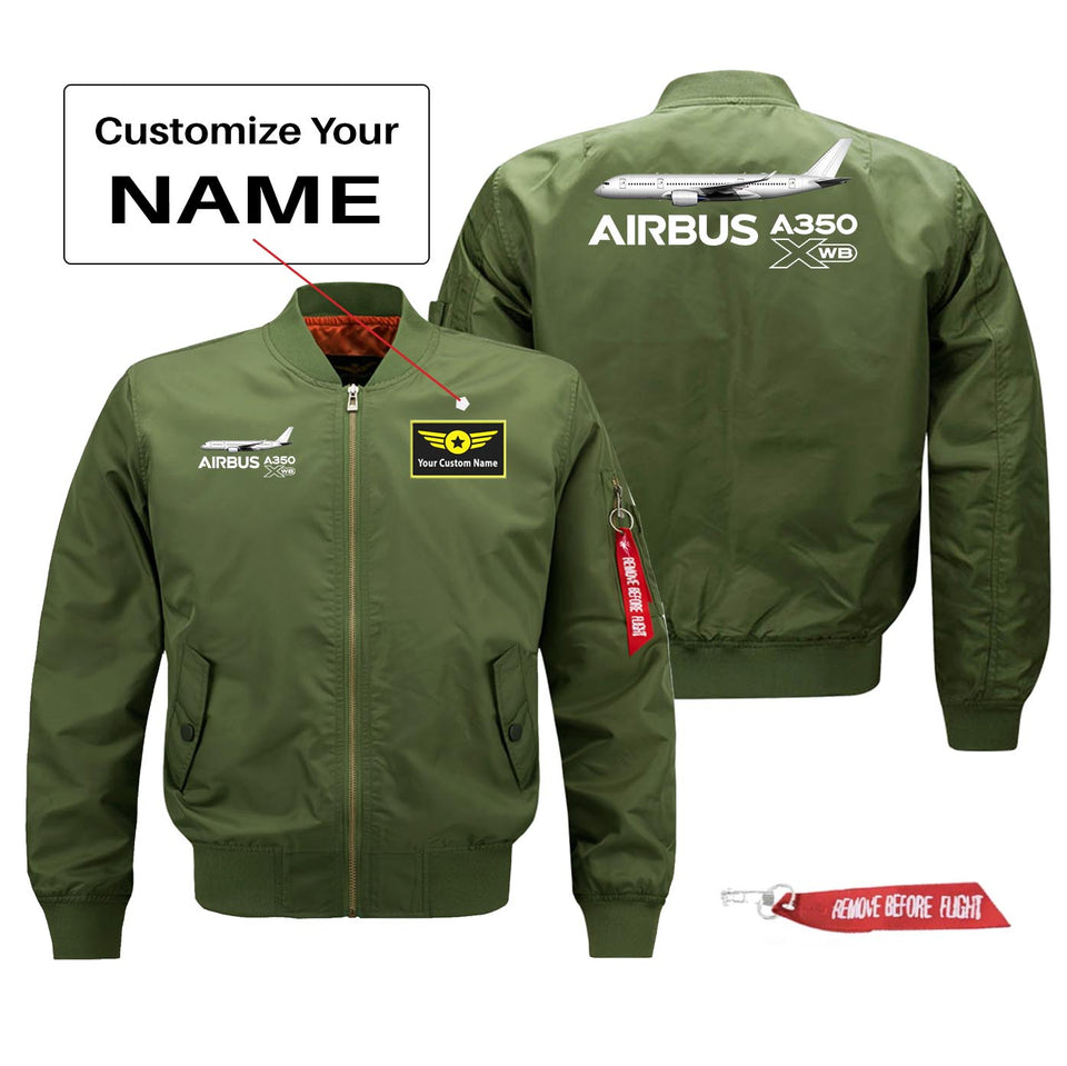 The Airbus A350 WXB Designed Pilot Jackets (Customizable)