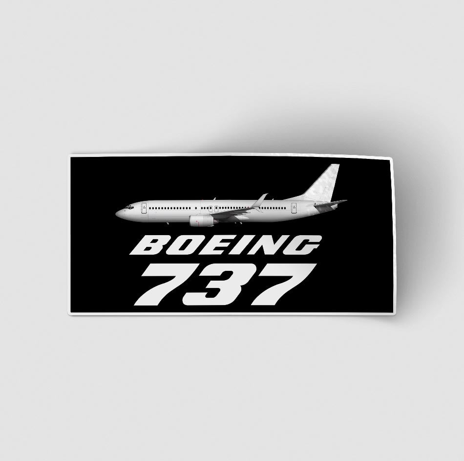 The Boeing 737 Designed Stickers
