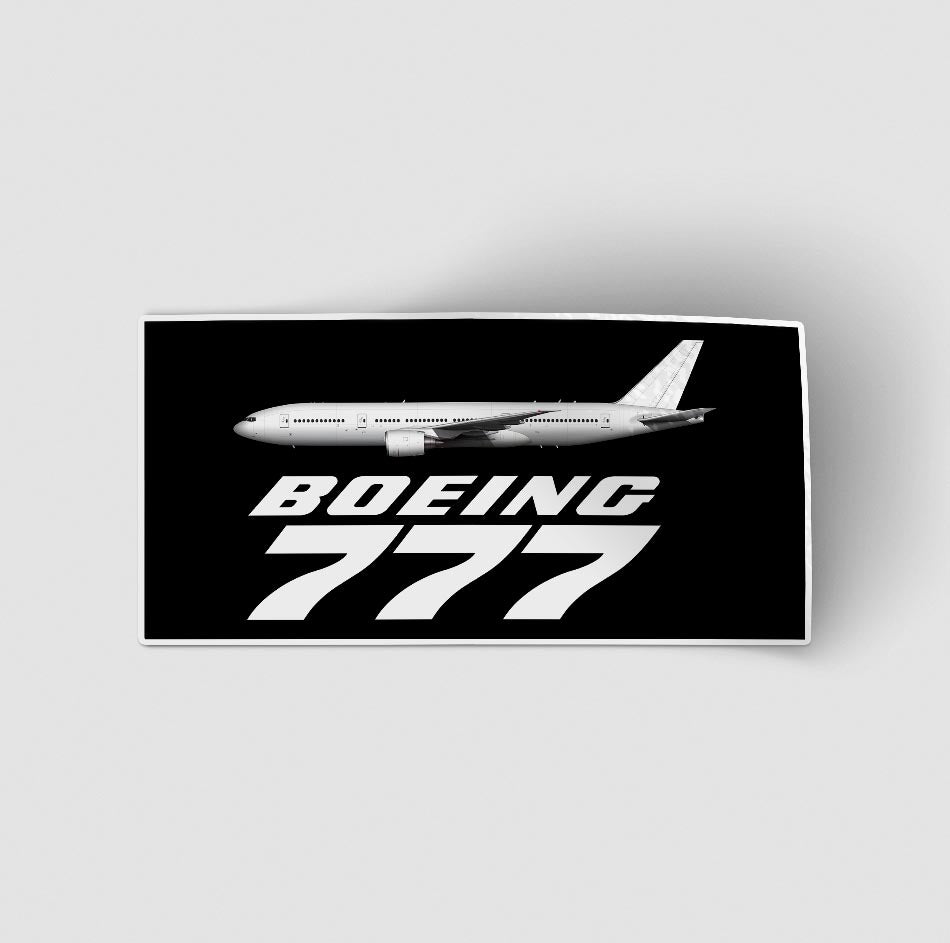 The Boeing 777 Designed Stickers