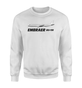 The Embraer ERJ-190 Designed Polo T-Shirts