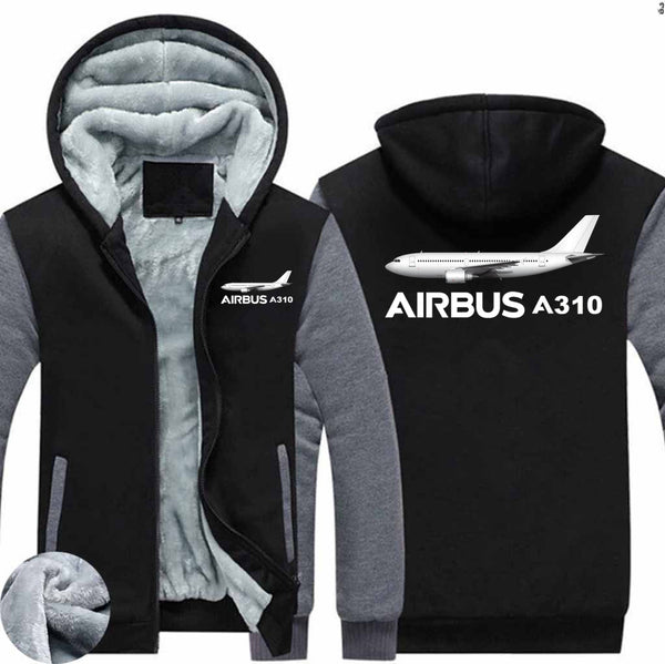 The Airbus A310 Designed Zipped Sweatshirts