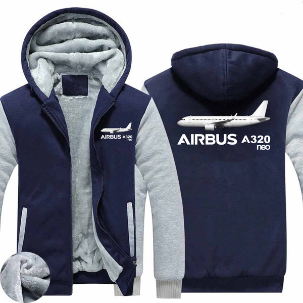 The Airbus A320neo Designed Zipped Sweatshirts