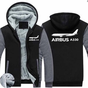 The Airbus A330 Designed Zipped Sweatshirts
