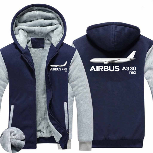 The Airbus A330neo Designed Zipped Sweatshirts