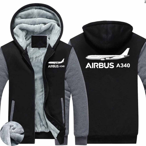 The Airbus A340 Designed Zipped Sweatshirts