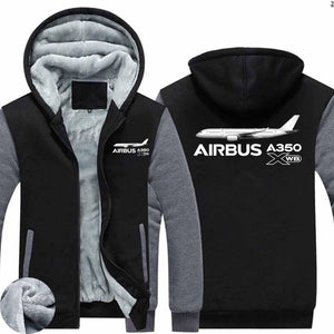 The Airbus A350 WXB Designed Zipped Sweatshirts