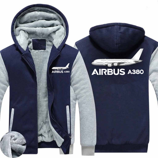 The Airbus A380 Designed Zipped Sweatshirts