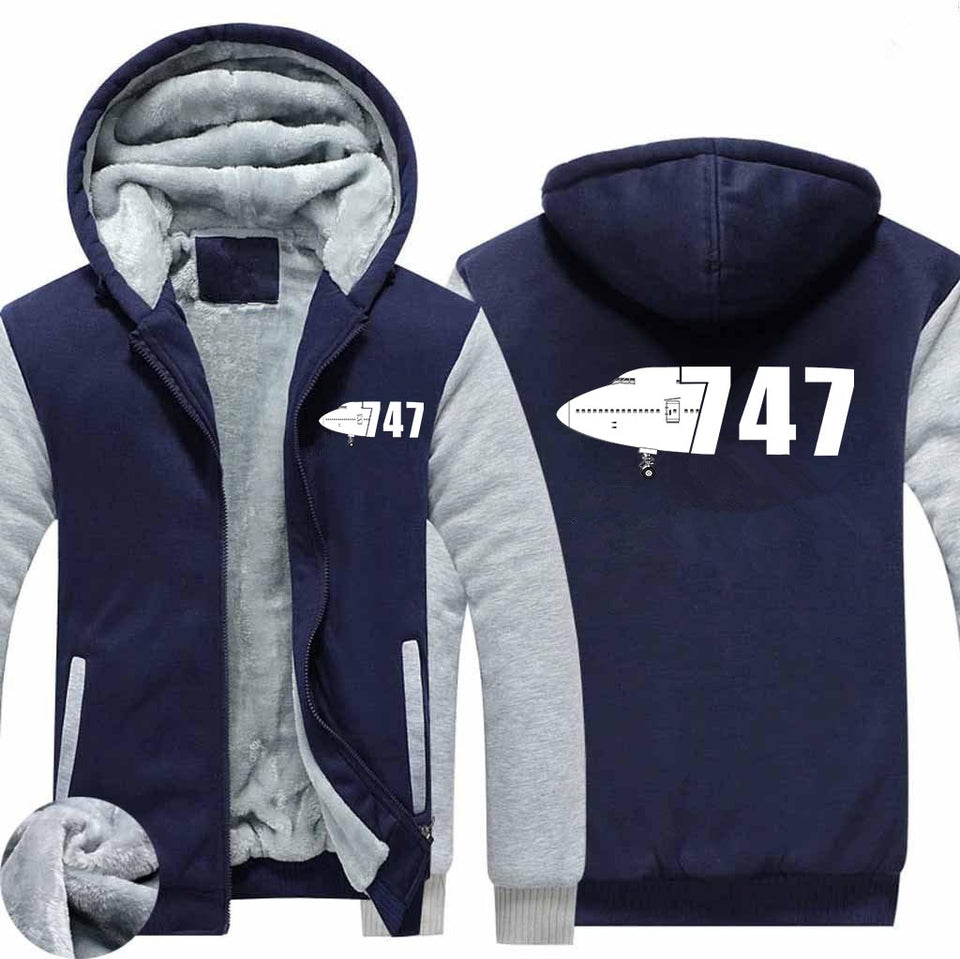 The Boeing 747 (Special Edition) Designed Zipped Sweatshirts