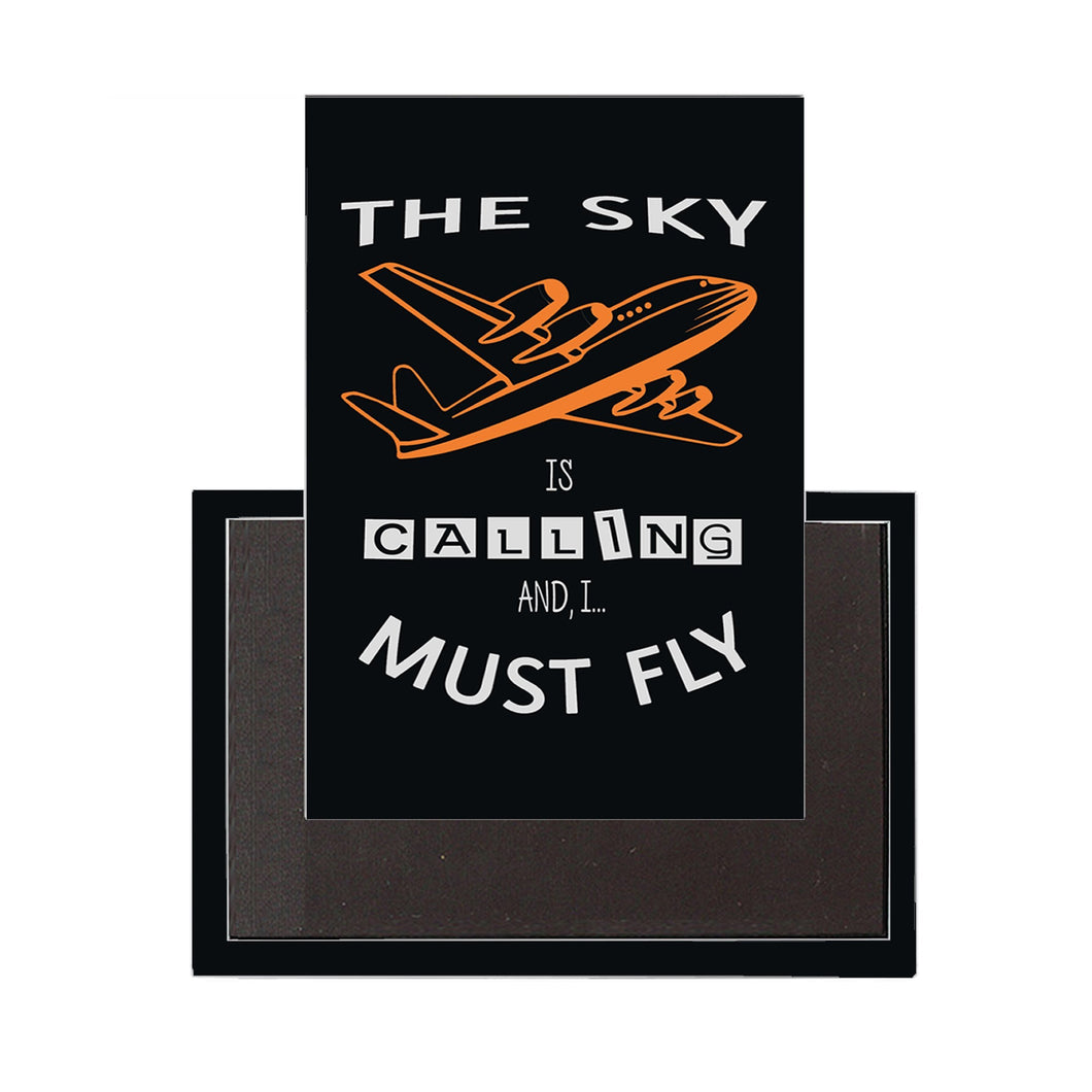 The Sky is Calling, and I Must Fly Designed Magnet Pilot Eyes Store