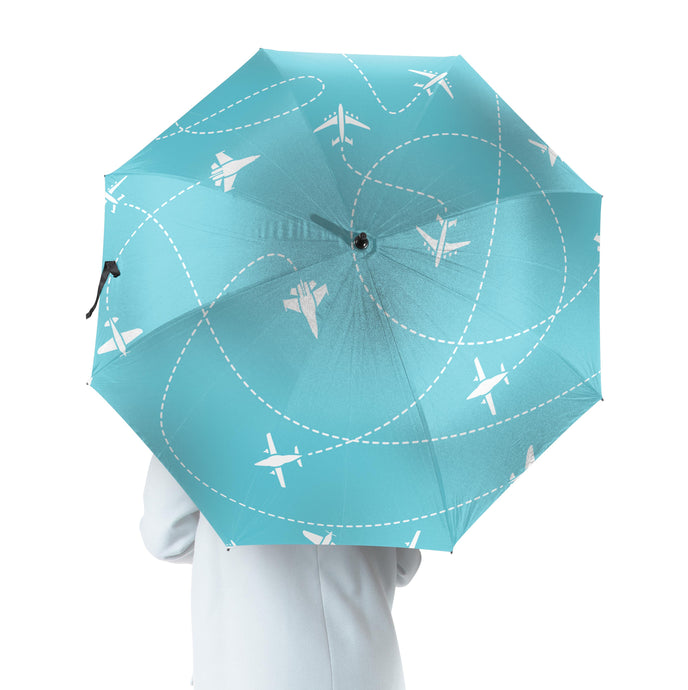 Travel The World By Plane Designed Umbrella