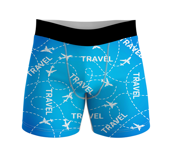 Travel & Planes Designed Men Boxers
