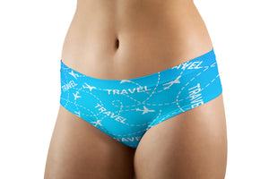 Travel & Planes Designed Women Panties & Shorts