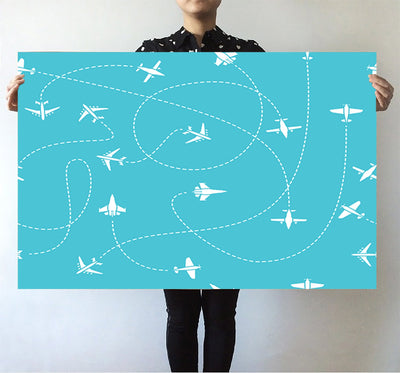 Travel The The World By Plane Posters