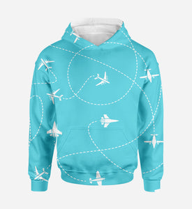 Travel The World By Plane Printed 3D Hoodies
