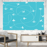 Travel The The World By Plane Printed Canvas Posters (1 Piece) Aviation Shop