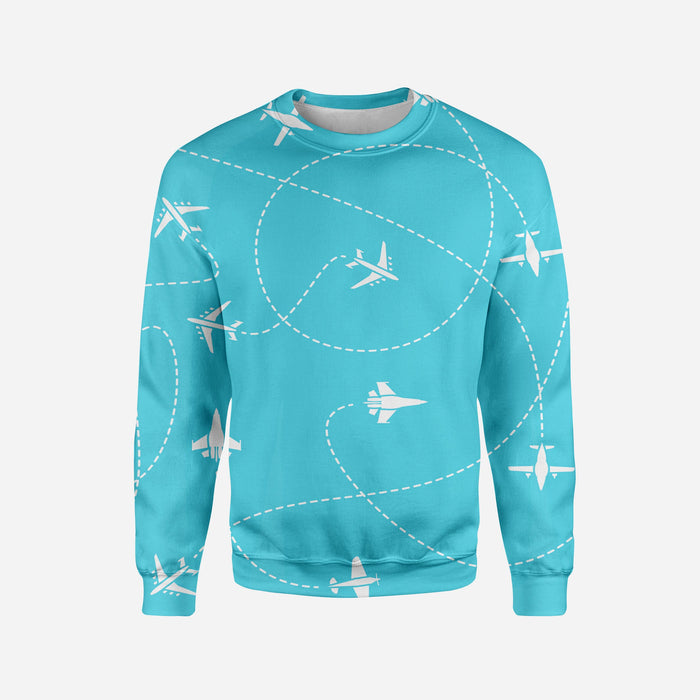 Travel The World By Plane Printed 3D Sweatshirts
