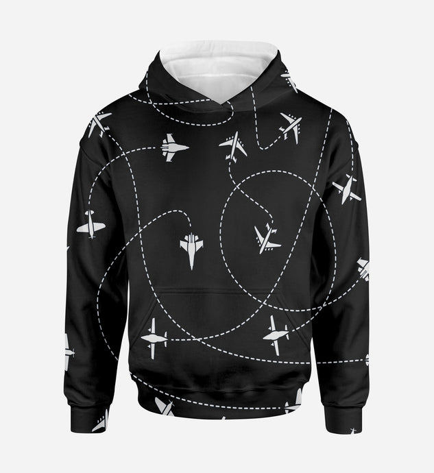 Travel The World By Plane (Black) Printed 3D Hoodies