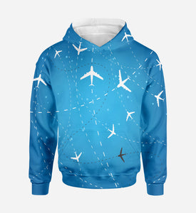 Travelling with Aircraft Printed 3D Hoodies