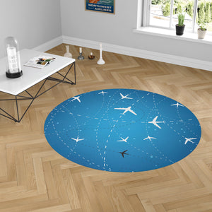 Travelling with Aircraft Designed Carpet & Floor Mats (Round)