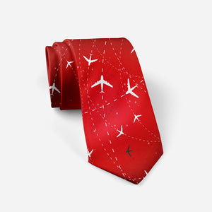 Travelling with Aircraft (Red) Designed Ties