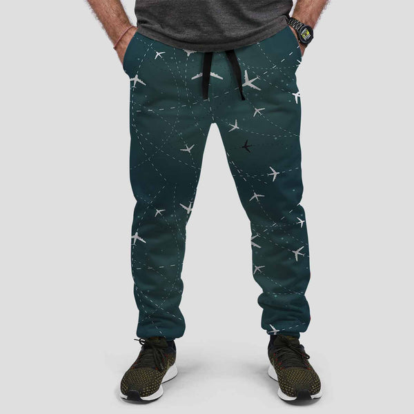 Travelling with Aircraft Designed Designed Sweat Pants & Trousers