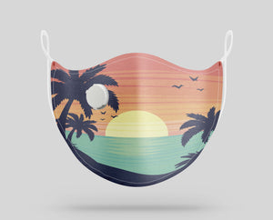 Tropical Summer Theme Designed Face Masks