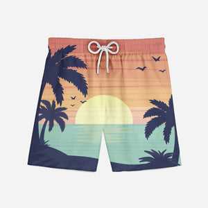 Tropical Summer Theme Designed Swim Trunks