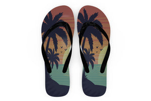 Tropical Summer Theme Designed Slippers (Flip Flops)